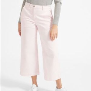 Everlane Wide Leg Cropped pant (Light Pink)